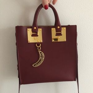 Sophie Hulme burgundy shoulder bag